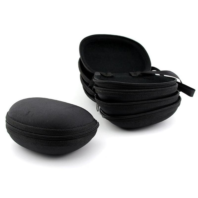 1pc Multi Function Portable Folding Sunglasses Storage Box Lanyard With Zipper Compression Glasses Case Eyewear Protection Box