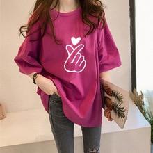 Fashion Chic Tshirts For Women Oversize Fuxk Cotton T-shirt