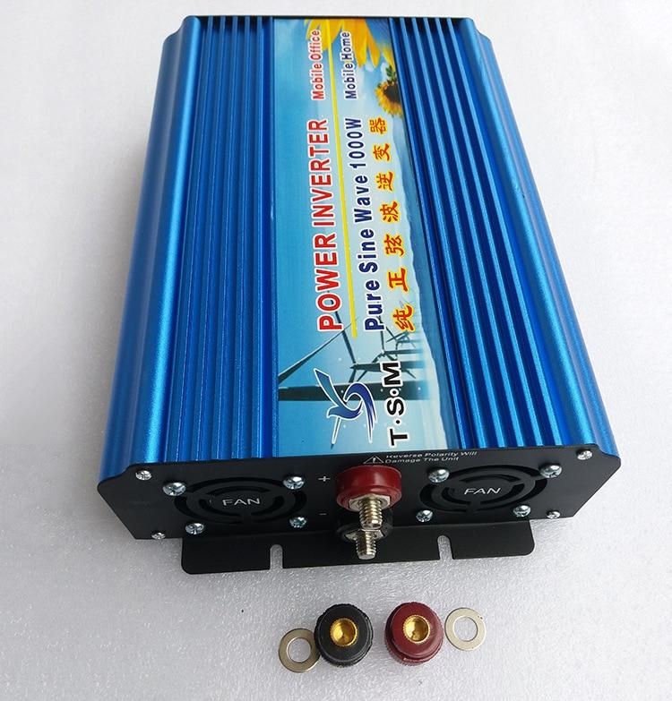 Pure Sine Wave Power Inverter 1KW 1000W DC12V input to AC110V 60HZ output digital display for Solar System free shipping 300w pure sine wave inverter converter for wind solar system dc12v dc24v input ac110v ac220v output
