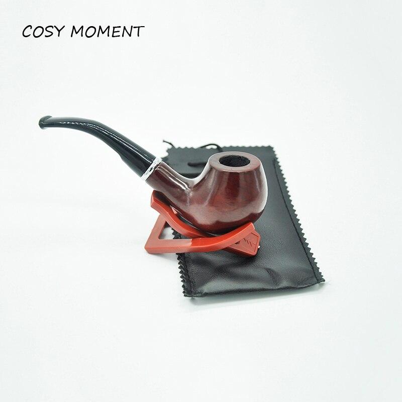 KOSMÄRKT Märke Massivt trä Tobaksrör Hållbar Rökning Cigaretter - Hushållsvaror - Foto 1