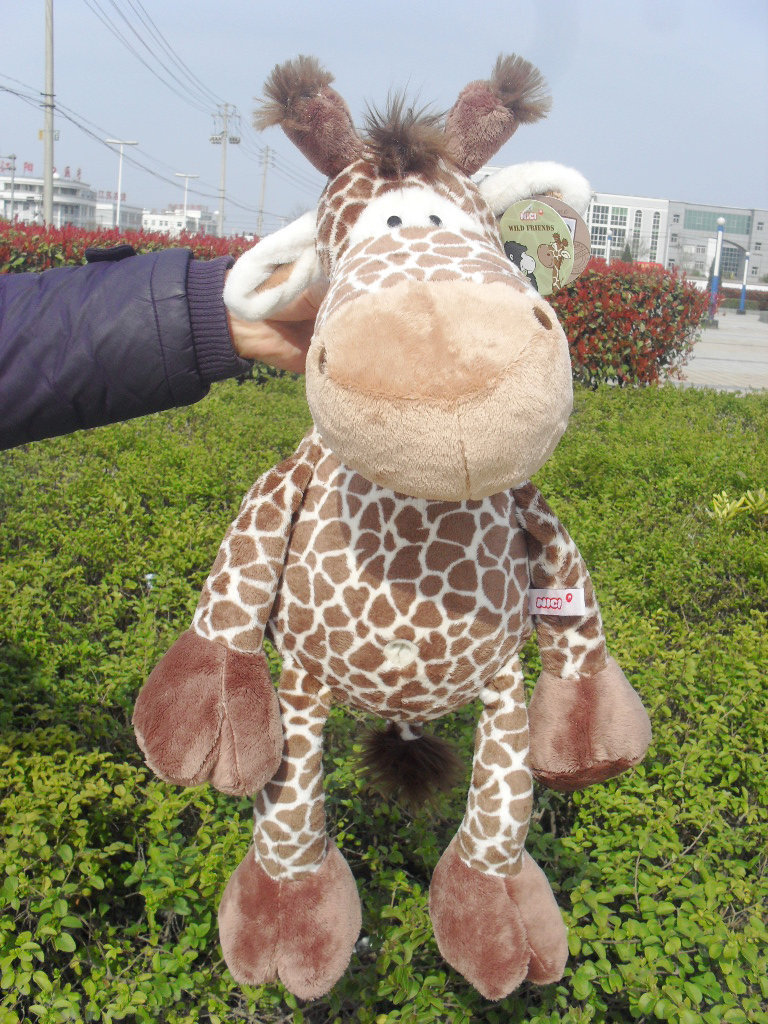 stuffed animal plush 80cm jungle giraffe plush toy soft doll throw pillow gift w2912