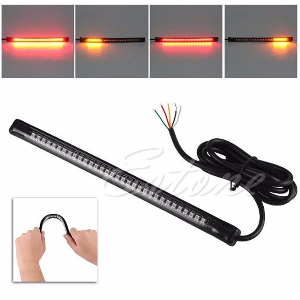 32 LED Universal Flexible Motorcycle Light Strip Tail Brake Stop/turn Sign Light