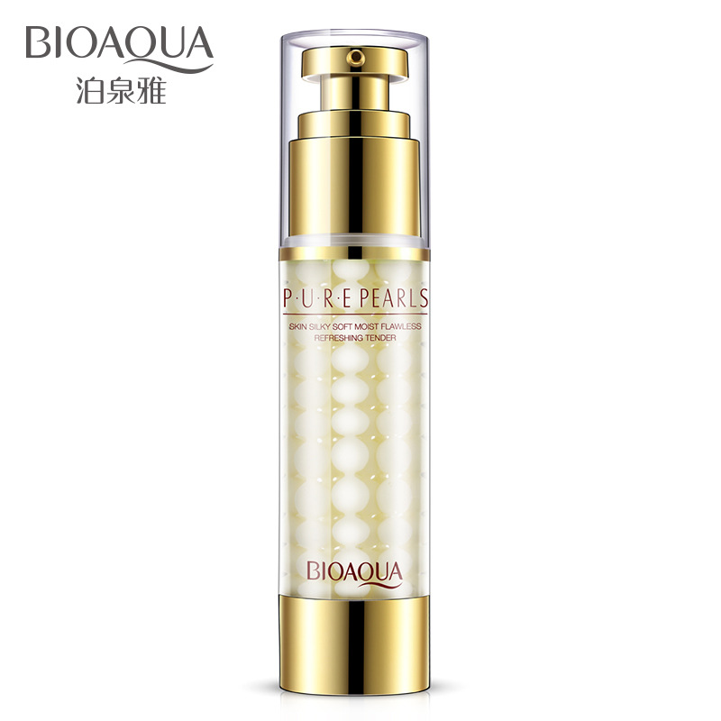2017 New BIOAQUA Pure Pearls Face Emulsion <font><b>Skin</b></font> Care Flawless Whitening Moisturizing Anti Wrinkle Face Care Creams Beauty