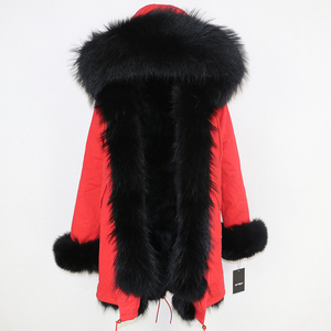 Image 3 - OFTBUY New Winter Jacket Women Parka Real Fur Coat Natural Raccoon Fur Collar Real Fox Fur Liner Thick Warm Outerwear Streetwear