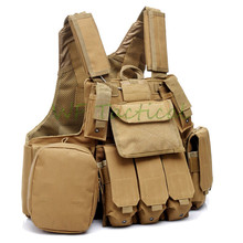 Military Tactical Combat Vest Police Paintball Wargame Wear