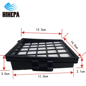 Image 2 - 2pcs HEPA Filters for Philips Easylife FC8071/01 FC8140 FC8141 FC8142 FC8143 FC8144 FC8146 FC8147 FC8148 Vacuum Cleaner Parts