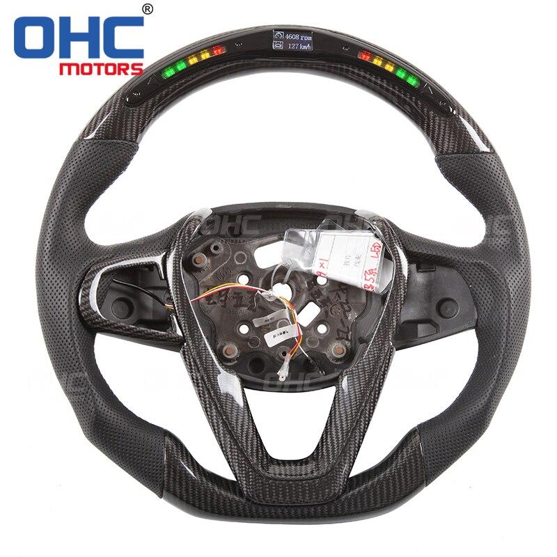Real Carbon Fiber LED Steering Wheel compatible for BMW G20G30G01G05 35X3X5 Steering Wheels & Steering Wheel Hubs     - title=