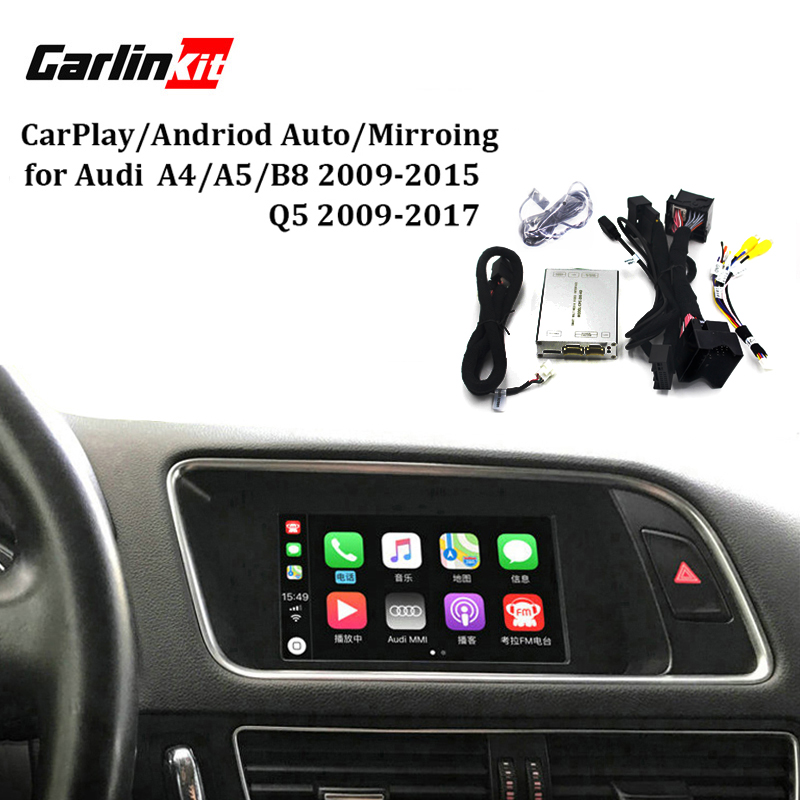 Carlinkit Interfaccia Video Con Carplay Funzioni di Mirroring Dello Schermo per A4 A5 B8 Q5 Con Audi Concert Symphony Modello