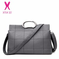 YANXI New Factory Outlet High Quality PU Leather Fashion Lady Shoulder Messenger Bag Luxury Handbags Women