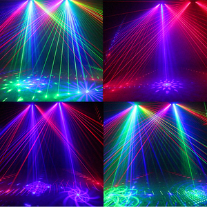 Image 5 - 6 Lens Scan Laser Light DMX RGB Full Color Lines Beam With Patterns Laser Home Party DJ KTV Projector Great Effects Stage Lights