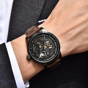 Image 2 - Pagani Skeleton Tourbillon Mechanical Watch Men Automatic Classic Leather Waterproof Wrist Watches Reloj Hombre Mens Gift 2019