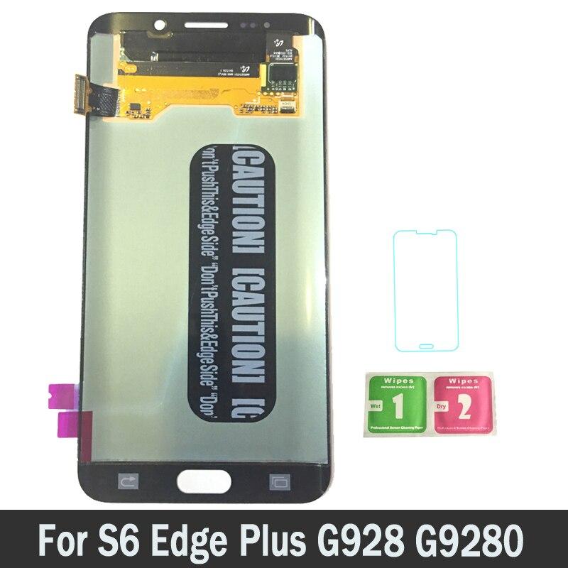 Высокое качество Super AMOLED ЖК дисплей s для Samsung Galaxy S6 Edge Plus g928 g9280 g928f ЖК дисплей с цифровым преобразователем сенсорного ввода в сборе