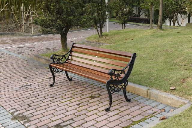 Park Benches Outdoor Chairs Leisure Cast Iron Wood Preservative In