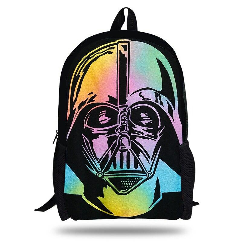 KOLLEGG Star Wars 3D Printing Children Softback Backpack Travel Mochila School Backpacks for Teenager Boys Bags