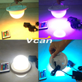NEW DHL 50 PCS Rechargeable Lithium Battery Operated Multicolors RGB LED Under Table Light With Remote Controller