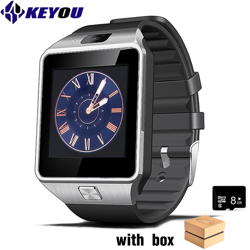 Keyou bluetooth montres intelligentes android montre hommes 2G GSM SIM TF sport smartwatch dz09 android caméra pour iphone Samsung HUAWEI
