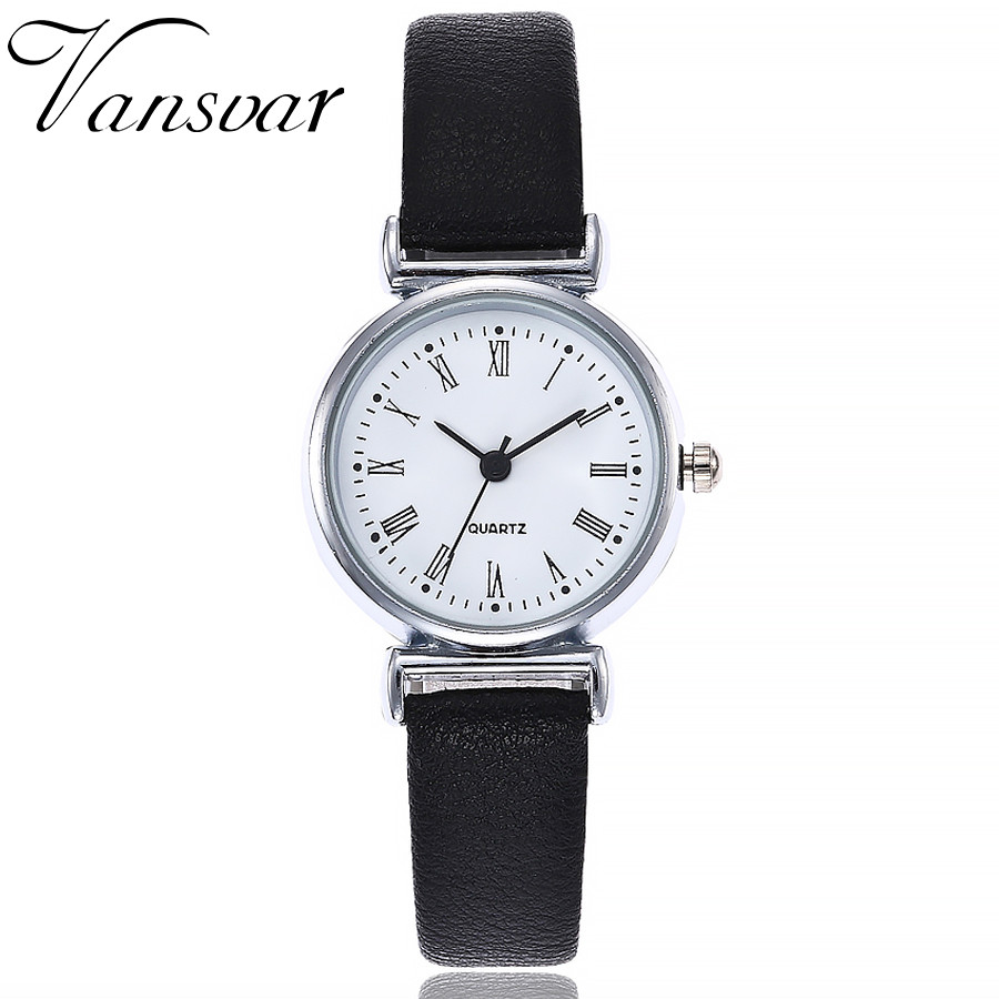 Vansvar Fashion Women's Watches Casual Quartz Leather Band New Strap Watch Analog Wrist Watch Relogio Feminino Drop Shipping vansvar brand fashion casual relogio feminino vintage leather women quartz wrist watch gift clock drop shipping 1903