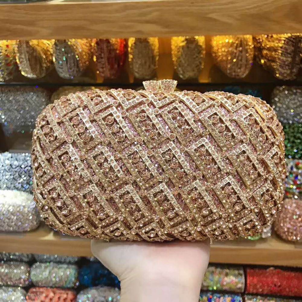 XIYUAN lady black/gold/silver/champagne color crystal small clutch purse wallet Rhinestone Luxury Ladies Evening Bag for partyXIYUAN lady black/gold/silver/champagne color crystal small clutch purse wallet Rhinestone Luxury Ladies Evening Bag for party