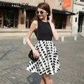Veri Gude Summer Dress Women Organza Cute Dress Half Dot Print Casual Style