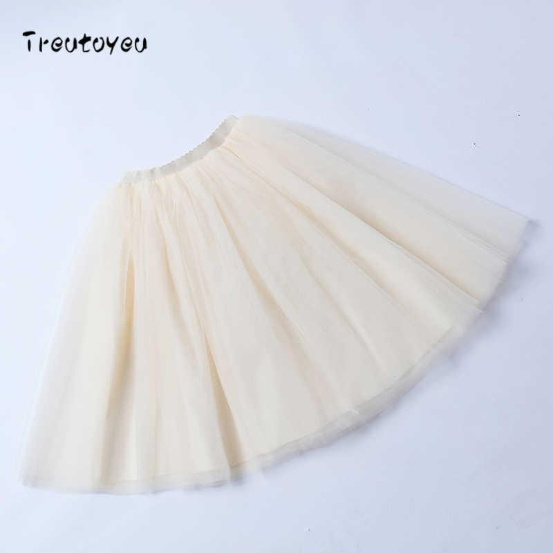 6 слоев миди Тюлевая юбка высокая талия пачка цвета шампань юбки женские Лолита юбка эластичный пояс Лето 2018 faldas saia jupe
