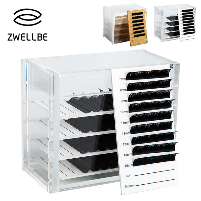 5f3fcdc31d4 Eyelash Extension Storage Box Eyelash Extension Organizer Acrylic Lash  Plate Storage Organizer Holder Eyelash Extension Tools