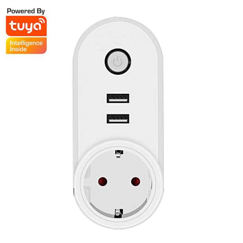 WiFi Smart EU Plug Outlet Wireless With 2 USB Socket Wifi Remote Control Timing Switch Outlet Timer Power Home Devices 3