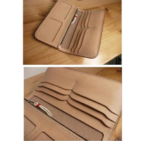 leather craft template multi pocket double photo position wallet die cutting knife mould hand punch tool set deri el aletleri