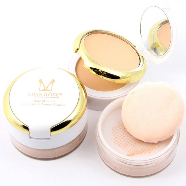 Newest 2016 Women Face Makeup Shimmer Loose Powder Oil-Control Finishing Powder Face Concealer Pearl Whitening Cover Acne/Spot