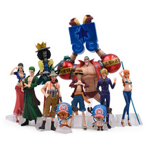 10 pcs/set Anime One Piece 2 YEARS LATER luffy PVC Action Figure Doll Collectible Model Baby Toy Christmas Gift For Children