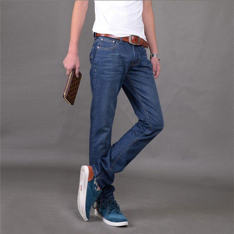 Hot Sale 2017 New Arrival Four Season Men Jeans Retail Wholesale Slim Straight Pants pencil pants Brand Cotton Jeans Men