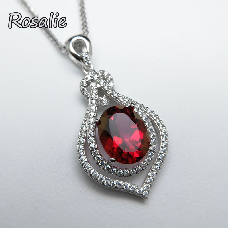 Rosalie,3ct natural coated color red topaz pendant necklace 925 sterling gemstone fine jewelry for women daily wear party gift wwd women s wear daily 2012 11 26