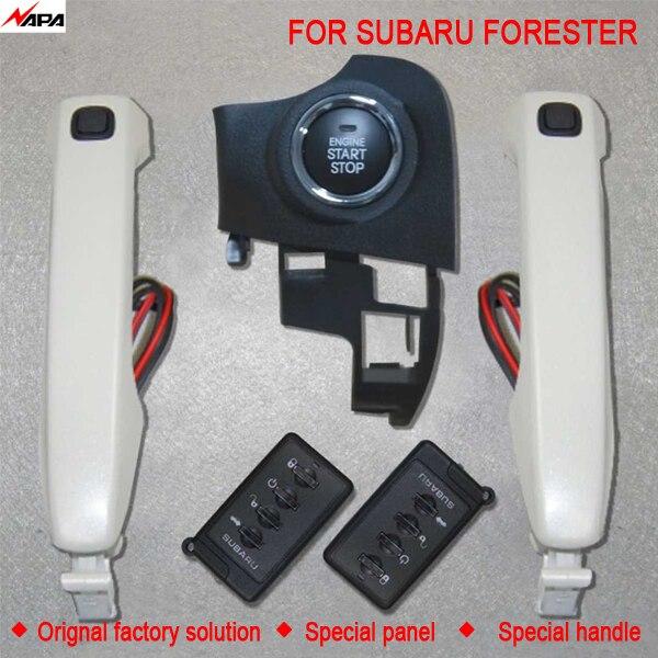 Démarrage automatique sans clé de voiture avec poignée intelligente déverrouiller le système d'alarme de démarrage à distance pour subaru forester