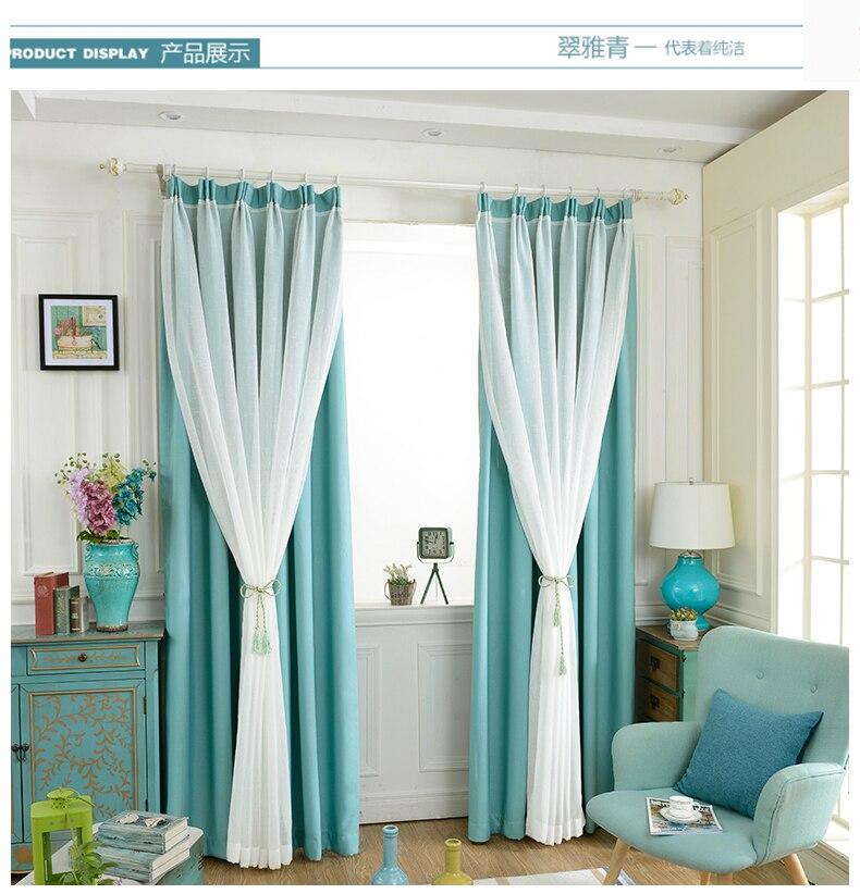 huayin de terciopelo de lino cortinas de tul cortina de ventana para el dormitorio sala