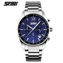 New Skmei Stainless Steel Wristwatch Business Men masculino mens top brand luxury Quartz Sports waterproof Fashion Boys watches