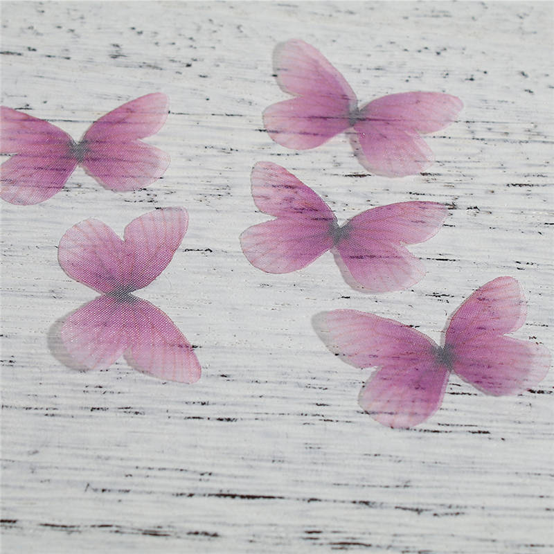Organza For DIY & Craft Red & Blue Fuchsia Green Ethereal Butterfly Animal 30mm(1 1/8) x 21cm(8 2/8), 5 PCs