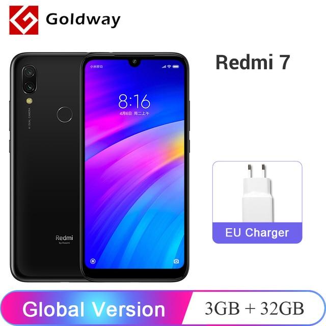 """במלאי! הגלובלי גרסת Xiaomi Redmi 7 3 GB זיכרון RAM 32 GB ROM נייד טלפון Snapdragon 632 אוקטה Core 12MP 6.26"""" 4000 mAh סוללה"""