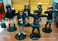 K-ON! 6pcs/set 10cm Akiyama Mio Action Figures PVC brinquedos Collection Figures toys for christmas gift free shipping