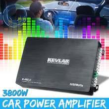 12V 3800W 4 Channel Car Speaker Audio Stereo Power Amplifier Amp Aluminum 4Ohm F