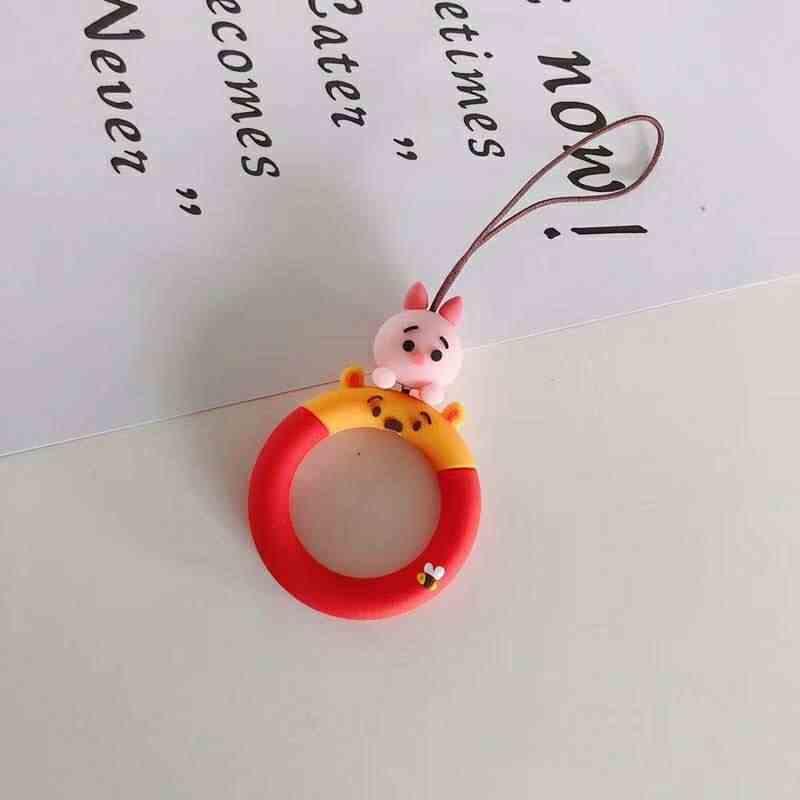Cardcaptor Sakura Sesame Street Monsters анпанмен шаблон Мобильный Ремень для телефона Силиконовая защита палец кольцо короткий ремень для ключей