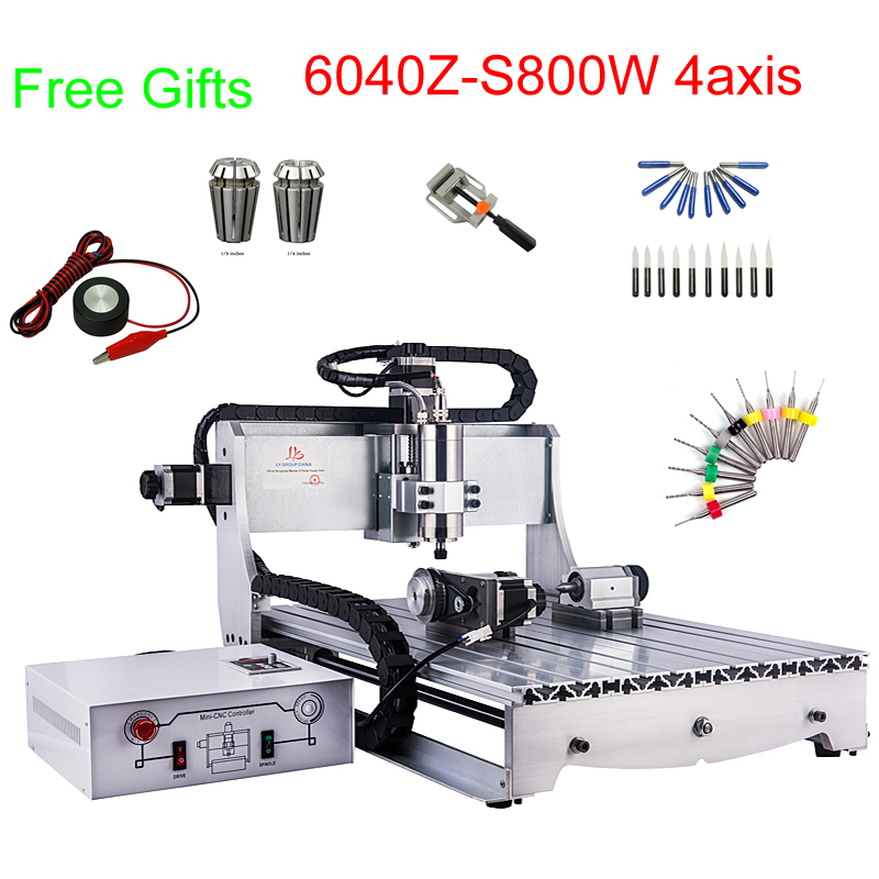 800W Cnc Engraving Machine Mini CNC Milling Machine 600*400mm Working Area With Water Cooling Spindle