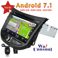 WANUSUAL 7 Single Din Quad Core 16G 2G RAM Android 7.1 GPS Navigation for Hyundai HB20 2013 Radio Player with BT WIFI 1024*600