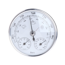 NEW Household Weather Station Barometer Thermometer Hygrometer Wall Hanging Apr 11 mechanical aneroid barometer hygrometer thermometer 225mm daimeter weather station home decoration gift