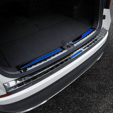 for SKODA KODIAQ Rear guard plate Trunk decorate Threshold bar Protective plate  Stainless steel 1pc for patrol y62 rear guard plate stainless steel threshold bar protect decoration