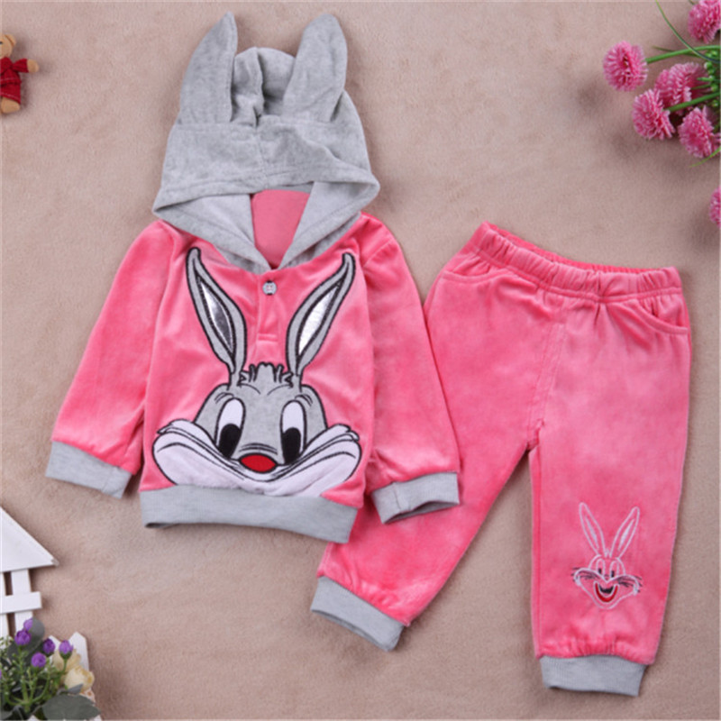 Hot!!New  Baby Clothing Set Cartoon Kids Apparel Boys Girls Children Hoodies And Pant Children's Clothing Set For Autumn