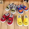 2016 Spring Kids Sneakers Children Canvas Shoes Girls Baby Shoes First Walker Sports Spiderman Shoes Batman Sneakers Baby Boy