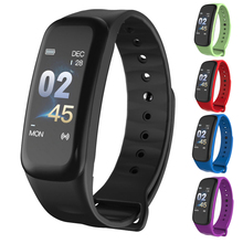 RUIJIE C1Plus Fitness Smart Bracelet Color Screen Blood Pressure Oxygen Heart Rate Monitor Men Sport Smart Band for Android IOS