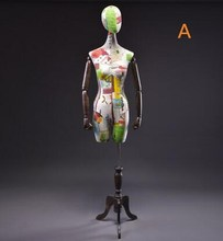лучшая цена 115cm Female plastic mannequin Wedding decorative realist linen half body mannequin real doll maniqui Wooden square base B711