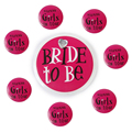 8Pcs Bride to Be Badge Girls on Tour Badges Hen Night Party Favours