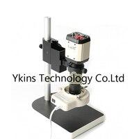 2.0MP HD VGA CVBS USB AV TV Industrial Digital Camera Video Microscope Camera + 100X C Bayonet Lens +56 LED Ring Light + Bracket