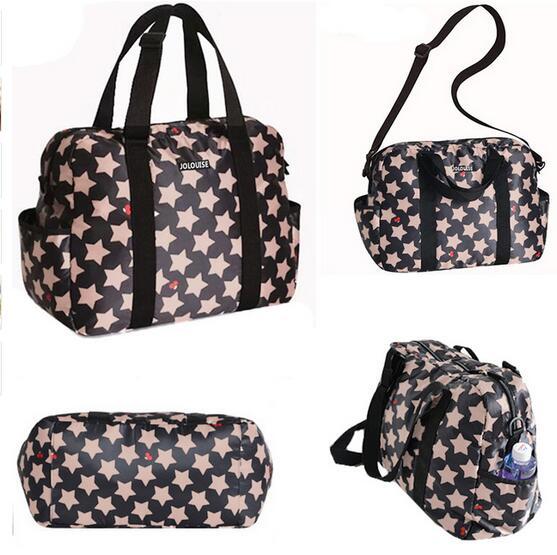 Wickeltasche für Kinderwagen Sterne Design Große Baby Windel Mutter Wickeltasche für Rollstühle Tote Handtasche Wasserdichte Taschen